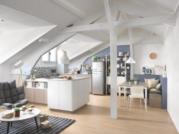 15 cocinas pequenas abiertas al salon 2021 2022 cocina blanca con isla de schmidt