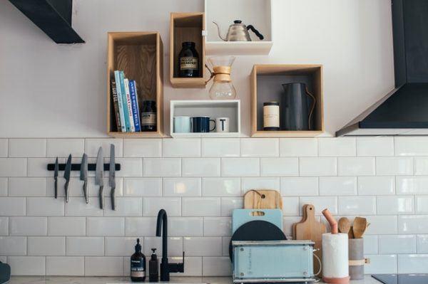 Azulejos de vinilo en cocina