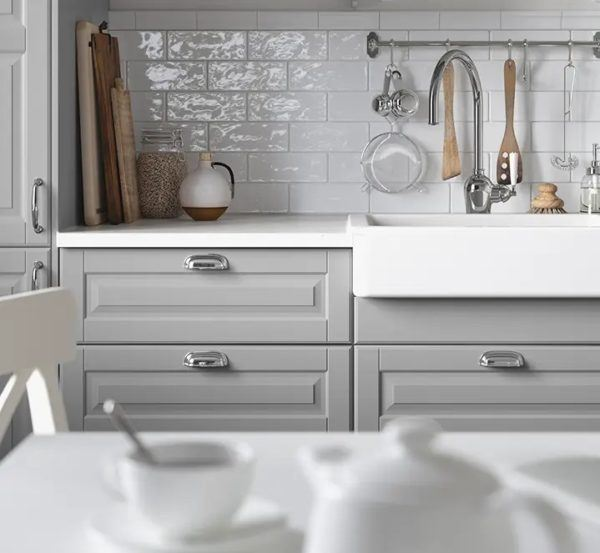 Catalogo de cocinas pequeñas IKEA 2021 2022 cocina gris