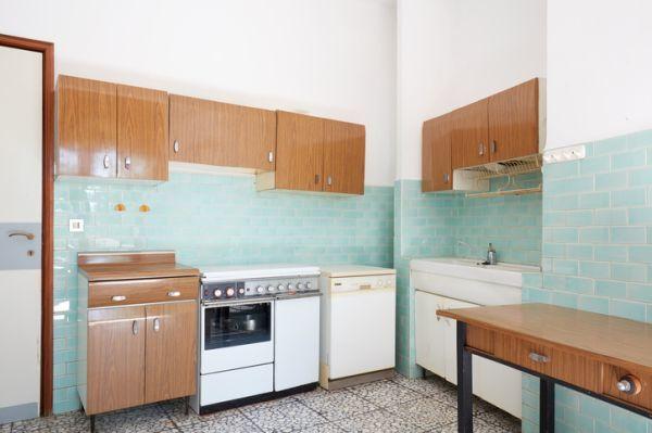 Azulejos de la cocina azules