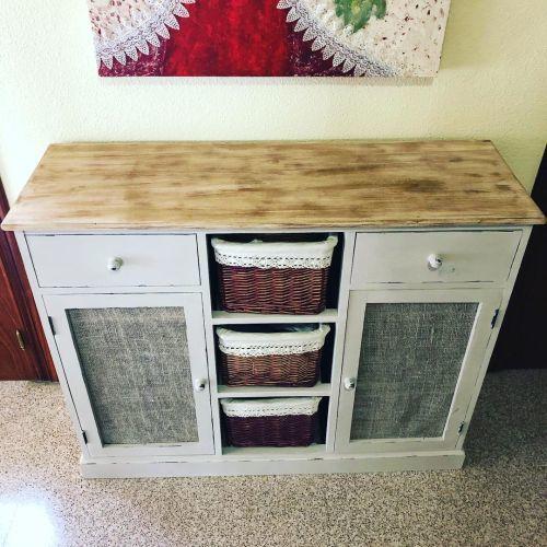 Mueble de almacenaje a la tiza