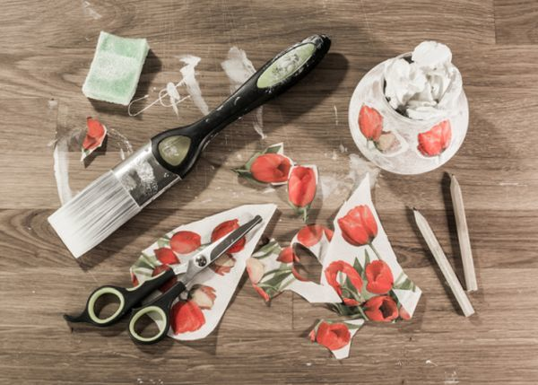 Decoupage tecnicas decorativas recortes de flores