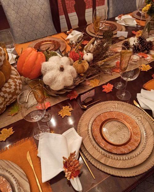 Decoración mesa de Acción de Gracias