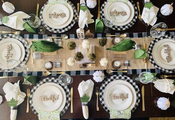 Decoración mesa Acción de Gracias