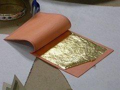 Técnicas decorativas: Dorado o plateado a la hoja
