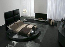 Bedroom-Design-with-Black-Floor-and-Black-Furniture