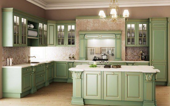 Classic kitchen designs with luxury light