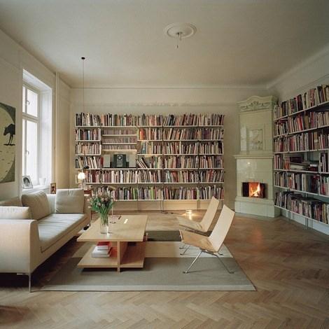 Bibliotecas Diseno Fotos Espaciohogarcom - Bibliotecas-de-madera