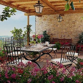 Mesas de terraza for Terrazas pequenas rusticas