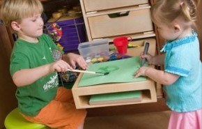 Un espacio para los niños en la cocina