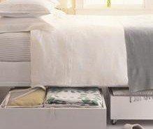 Fabrica cajones móviles para colocar bajo la cama