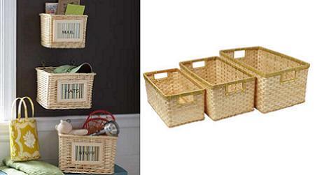 Crea una estanter a muy original con cestos de mimbre for Cajones de mimbre