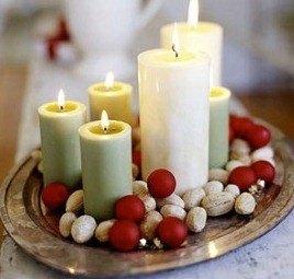 Velas de navidad decoraci n ideas fotos for Decoracion del hogar con velas