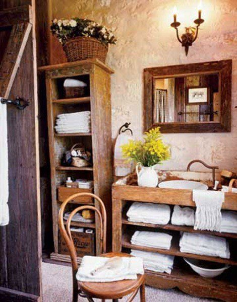 Country Cabin Bathroom Ideas : Ba?os r?sticos espaciohogar