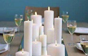 Decorar navidad con velas