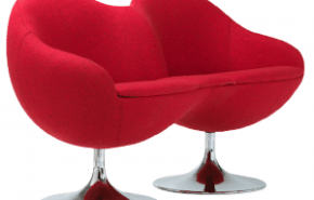 "Cosmos Chair, sofá ""doble huevo"" estilo retro"