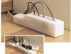 Una útil cubierta plástica para esconder los enchufes y evitar accidentes