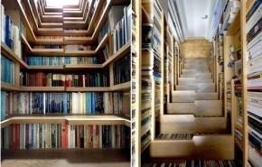 Escalera biblioteca. Multifuncionalidad extrema