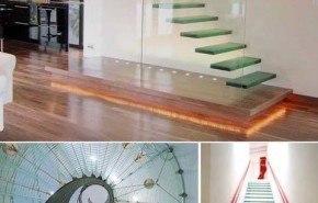 Sofisticadas escaleras de cristal