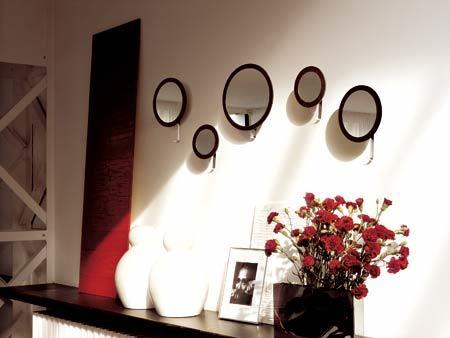 Decorar el hogar con espejos redondos for Decoracion espejos redondos