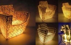 Sillones luminosos de fibra de vidrio