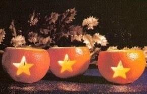 Fanales con naranjas para la mesa navideña