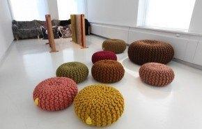 Puffs rústicos de diseño
