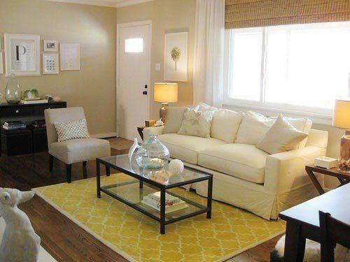 Un salón en tonos beiges