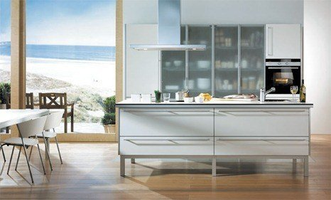 Cocinas Santos - Aluminia blanco seff