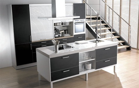 Cocinas Santos - Aluminia Negro