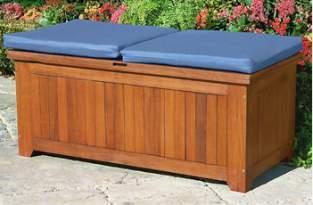 Banco de almacenaje en madera para exteriores for Banco baul exterior