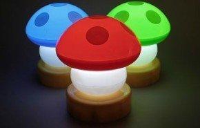 Lámparas con forma de hongos