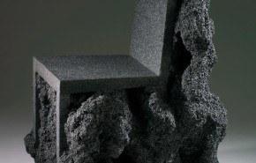 Silla de roca volcánica