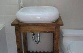 Como hacer una mesa de madera para el lavabo