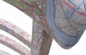 Silla forrada con un mapa de Londres (o de la ciudad que tú quieras)