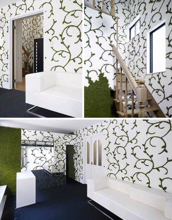 Paredes decoradas con naturaleza for Paredes exteriores decoradas
