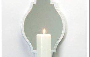 Bonitos candeleros con espejo para pared