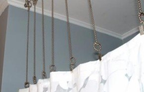 Otra forma de colgar las cortinas de baño