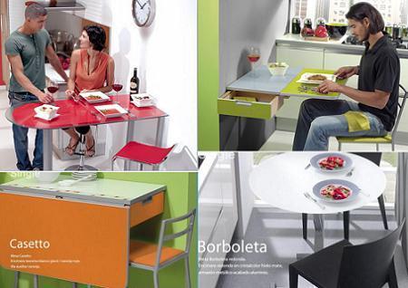 Mesas cancio para cocinas peque as - Mesa pequena para cocina ...