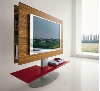 Tonin Casa es un ejemplo de diseño para muebles de pantallas planas