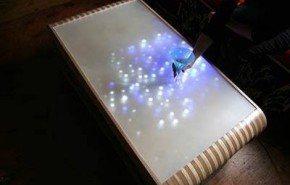 Mesa de luz que interactua con el movimiento