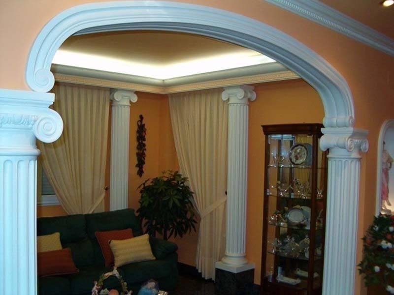 Estilo italiano estilo romano decoraci n decoraci n en - Columnas decoracion interiores ...