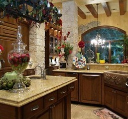 rustic kitchen with island austin texas