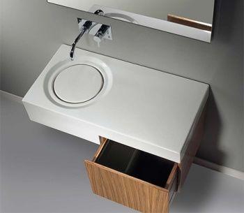 Sanindusa lavabo minimalista de dise o geom trico for Lavabo minimalista