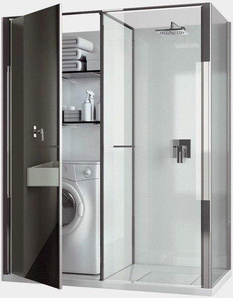 Baño Debajo De Escalera Con Ducha:Ducha y Lavadero compacto 2010 – EspacioHogarcom