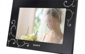 Marco digital Sony con diamantes
