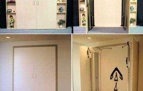 Un gimnasio en el armario