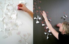 Papel tapiz en 3D, por Hanna Nyman