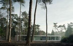 Villa 1, residencia moderna en medio del bosque holandés