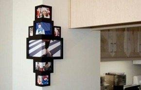 Decora las esquinas de las paredes con fotografías